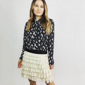 J. Crew Collection Tiered Brique Silk Skirt